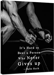 Innopics Motivational Canvas Wall Art Sport Quotes Black and White Muscle Man Bodybuilding Poster Print Gym Pictures Sportsman Inspirational Artwork for Office Bedroom Living Room Wall Decor