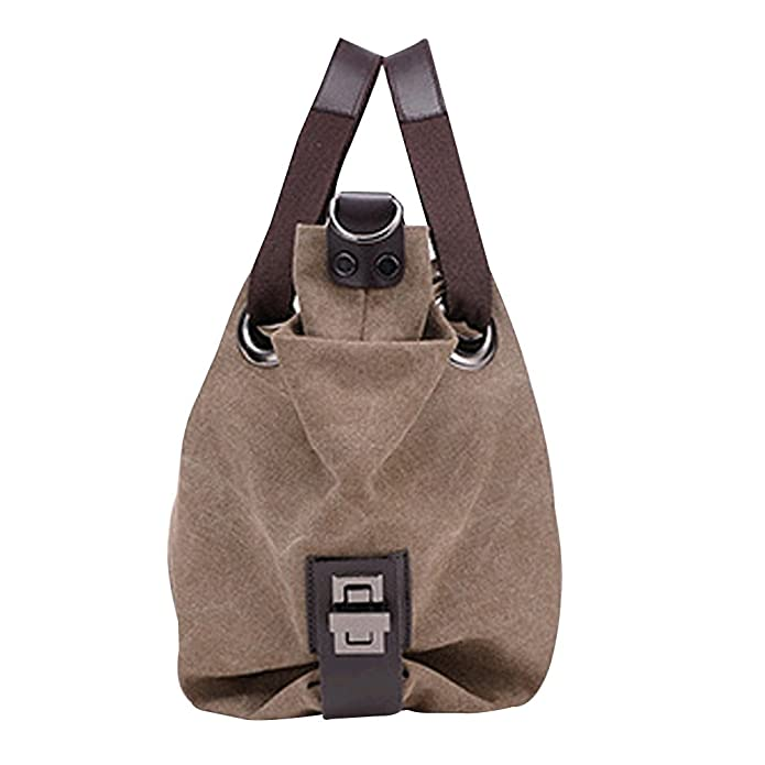 30f6079fc83e Amazon.com: Oath_song Women's Slouchy Pleated Canvas Hobos Bag Tote ...