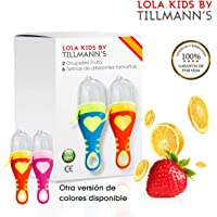 O³ Chupete Fruta 2 Unidades +6 Tetinas –2 Versiones– Alimentador Antiahogo Bebe Para Frutas/Verduras