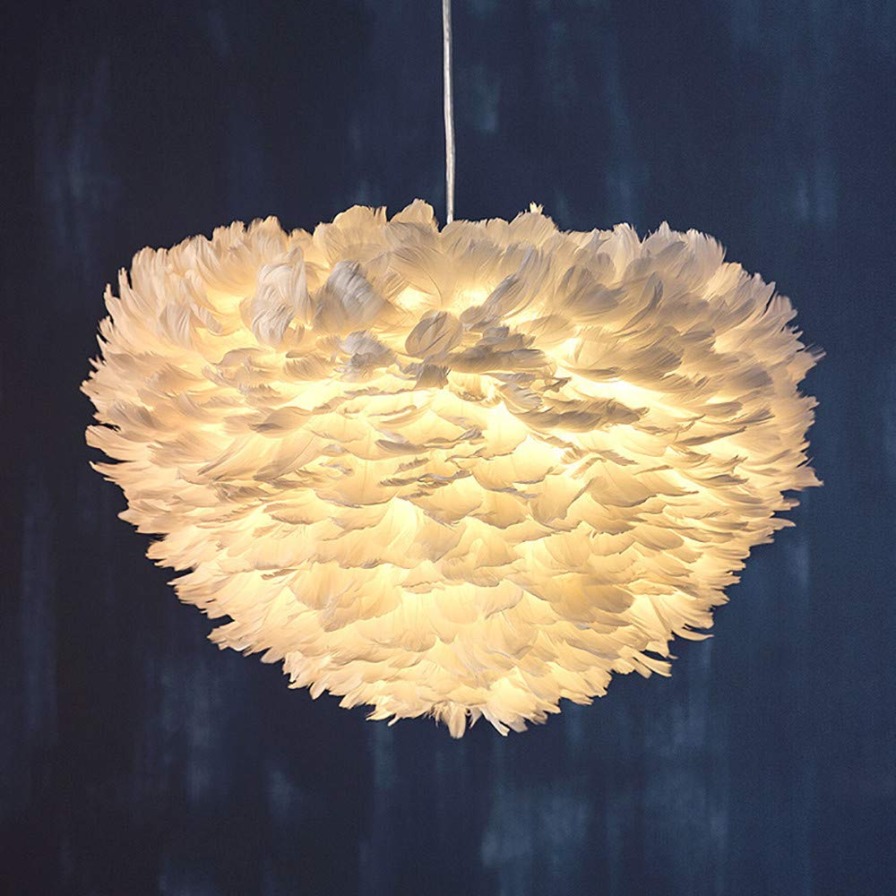 Sonmer Modern Pendant Light Feather Shade Chandelier Ceiling Light by Sonmer (Image #4)