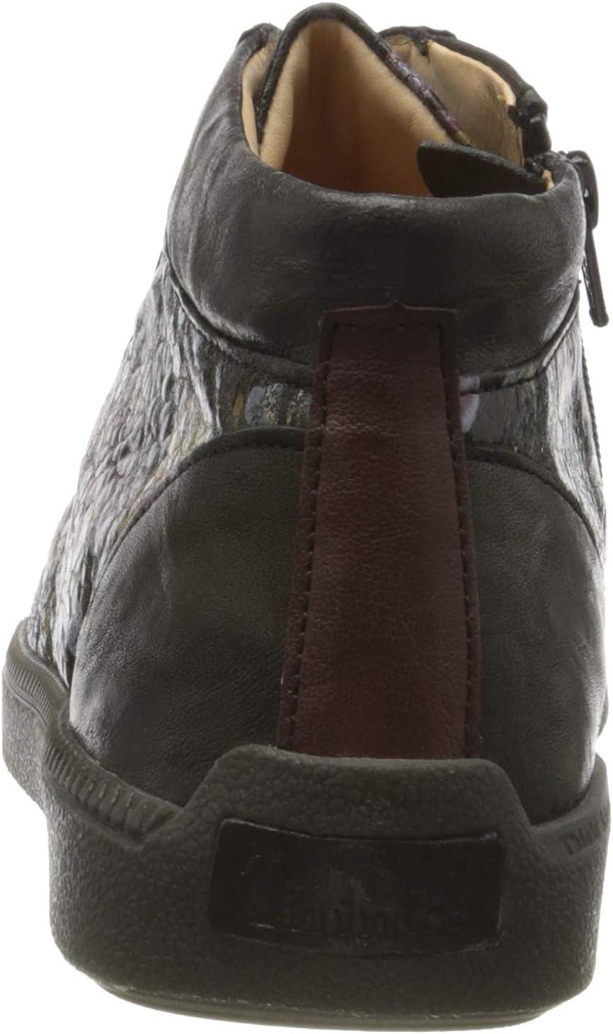 Think! Turna_585047, Sneaker a Collo Alto Donna Nero Sz Combi 09