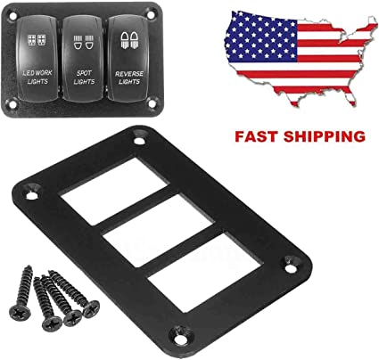 2 Way Auto Car Boat Aluminum  Rocker Switch Panel Housing Holder For ARB Carling