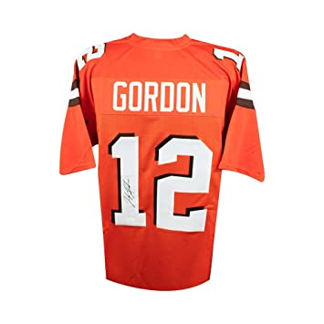 Josh Gordon Autographed Cleveland Browns Custom Orange Football Jersey - JSA  COA 81a659668