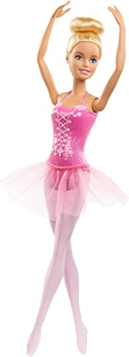Barbie Ballerina Doll with Ballerina Outfit, Tutu, Sculpted Toe Shoes, Ballet-Posed Arms and Blonde Ballet Bun for Ages 3 Ye