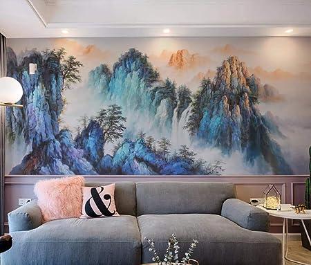 Mountain River Boat Nature Wall Mural Wallpaper Bedroom Children Room Nursery