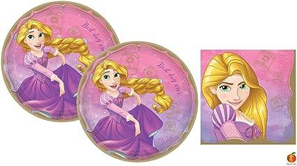 Disney Princess Deluxe Fiesta De Cumpleaños Vajilla Mantel Servilletas Platos Tazas