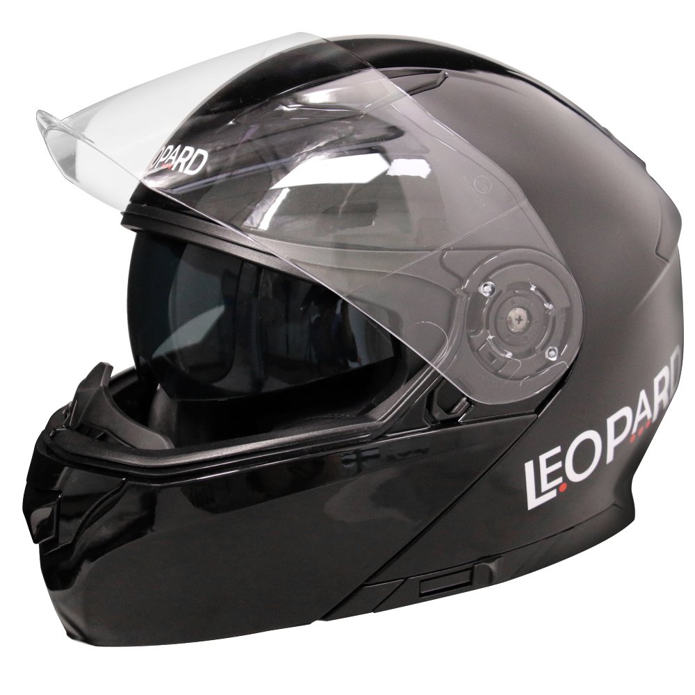 Leopard LEO-888 Klapphelm Integralhelm mit Doppelvisier Motorradhelm Damen und Herren ECE Genehmigt