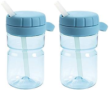 36ee26eb45 Amazon.com : OXO TOT Twist Top 12 Ounce Water Bottle, Aqua - 2 Pack : Baby
