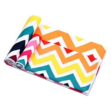 Winthome Microfiber Beach Towels Set 2 Pack Extra Large(59x29+39x19.5) Lightweight, Quick Dry Towel,Sand Free Towel for Beach, Travel, Swim, Pool, Camping, Outdoors and Sports
