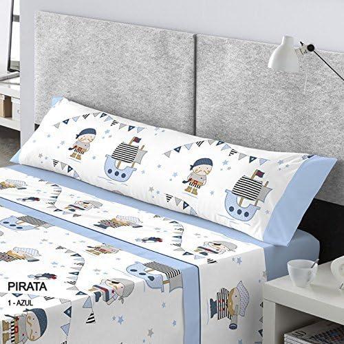 Catotex Juego SABANAS Infantil Pirata (Azul, Cama 90 CMS): Amazon ...