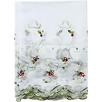 TXSD Elegante bloemen tule voile deur raam gordijn draperen paneel pure sjaal valletjes