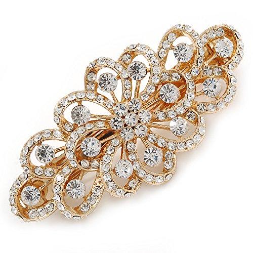 Avalaya Bridal Wedding Prom Gold Tone Filigree Diamante