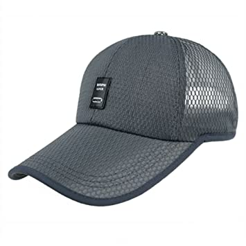 501afab1bec9d GHMM Sombrero de los Hombres de Malla de Verano Gorra de béisbol Visera al  Aire Libre