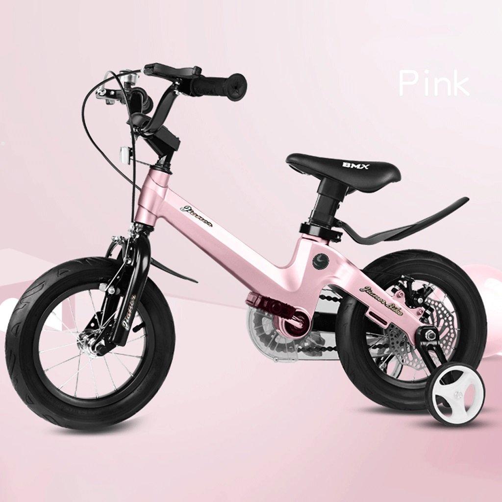 子供の自転車ベビーバイク2-10歳のベビーカーの少女の自転車18インチ (色 : ピンク ぴんく) B07D3RN7GT ピンク ぴんく ピンク ぴんく