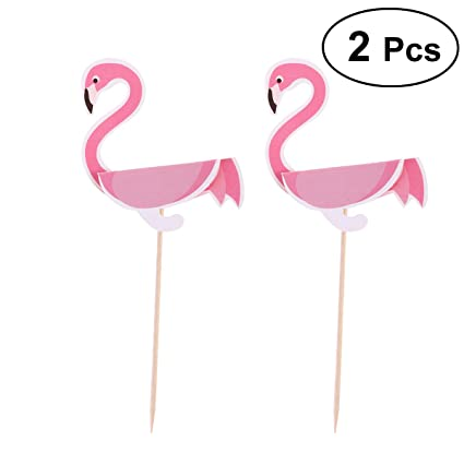 Amazon Oulii Flamingo Cake Toppers Cupcake Toppers Picks 3d