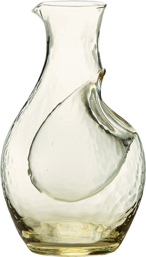 Takasegawa Amber Cold Sake Carafe 61227DGY by Orient Orient Sasaki Glass