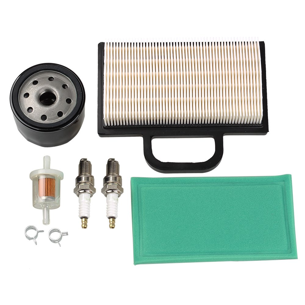 HIPA 698754 273638 Air Filter 691035 Fuel Filter 696854 Oil Filter Spark Plug for Briggs & Stratton Intek Extended Life Series V-Twin 18-26 HP Lawn Mower by HIPA