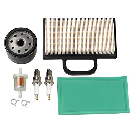HIPA 698754 273638 Air Filter 691035 Fuel Filter 696854 Oil Filter Spark  Plug for Briggs & Stratton Intek Extended Life Series V-Twin 18-26 HP Lawn