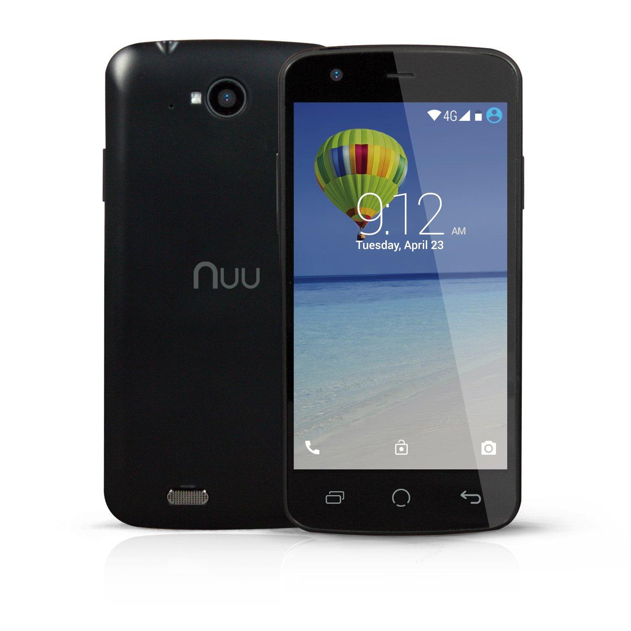 "NUU Mobile NU2S 4.5"" qHD Android Lollipop 4G Smartphone (Black)"