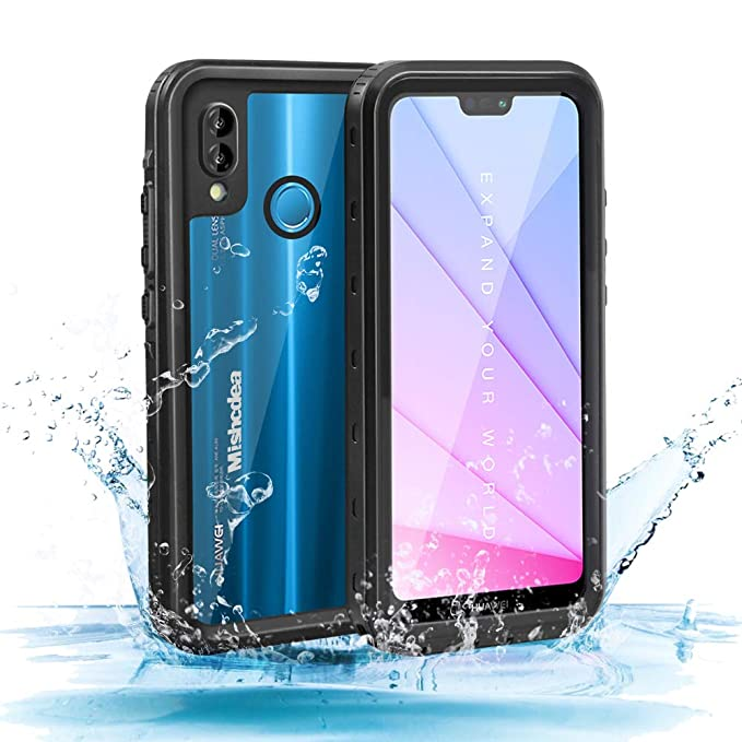 best sneakers fe6d8 a6b72 Mishcdea for Huawei P20 Lite Waterproof Case Shockproof Snowproof Dirtproof  Full Body Phone Protector Cover Only for Huawei P20 Lite (Huawei Nova 3e),  ...
