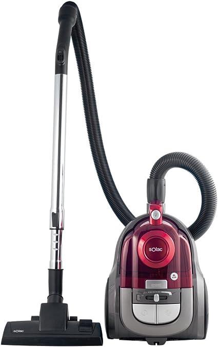 Solac Apollo Compact-Aspirador ciclónico (600 W, regulador de Potencia, Capacidad 2,5 litros, accessorios), Rosa, 2 litros, Plástico, Negro, Rojo: Solac: Amazon.es: Hogar