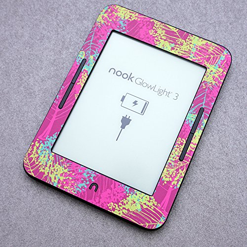 MightySkins Skin Compatible with Barnes & Noble Nook GlowLight 3 (2017) - Pink Roses | Protective, Durable, and Unique Vinyl Decal wrap Cover | Easy to Apply, Remove | Made in The USA