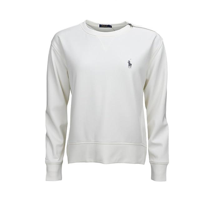 dcd3983d Ralph Lauren Women's Blouse Sweatshirt - White - XL: Amazon.co.uk ...