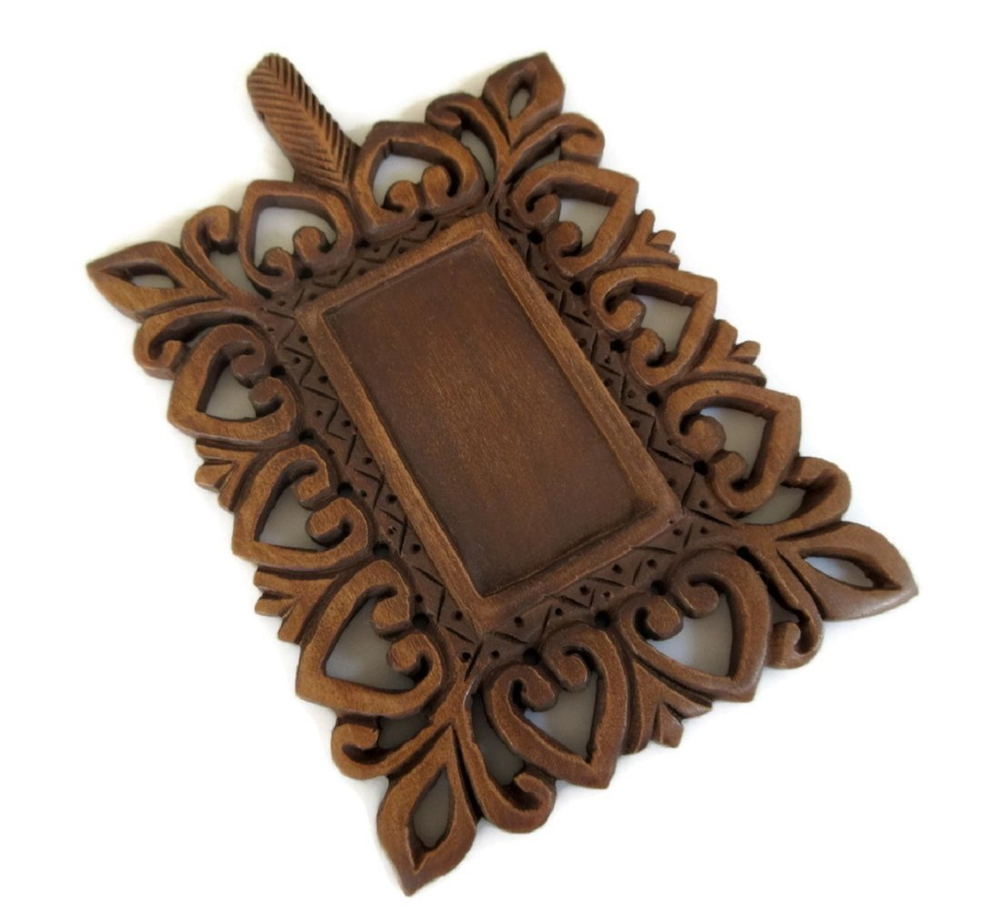 Hand Carved Wooden Window Frame Pendant, Handmade Wooden Jharokha Pendant Jewelry, GDS1046/3 (20 Pieces)