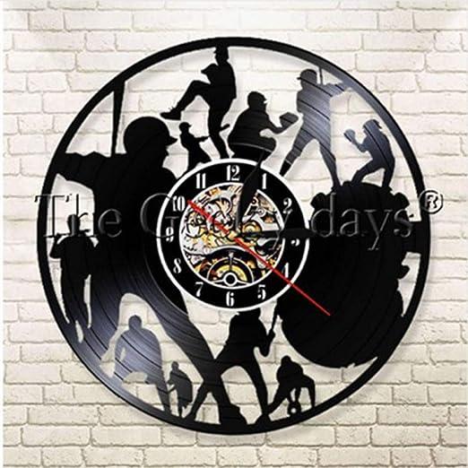 DFRTY Baloncesto Vintage Vinyl Record Reloj de Pared Baloncesto ...