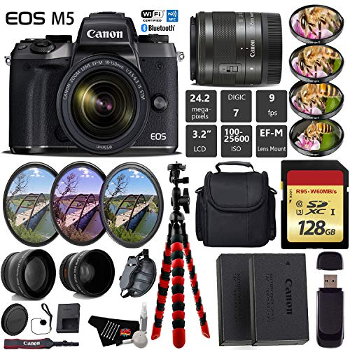 Canon EOS M5 Mirrorless Digital Camera with EF-M 15-45mm IS