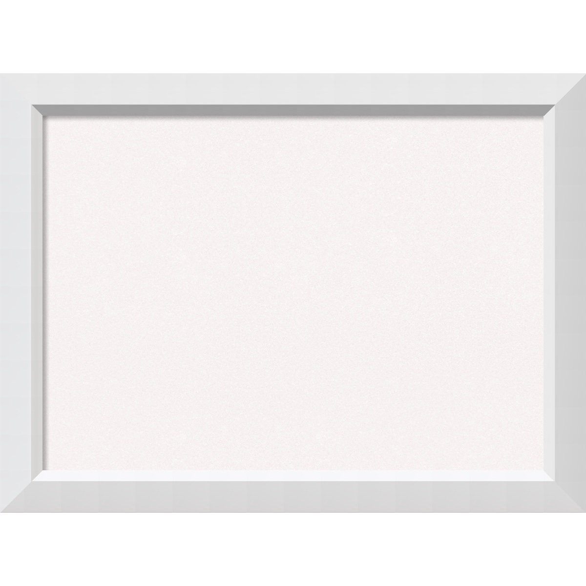 Amanti Art Framed Cork Board Blanco White: Outer Size 32 x 24, Large
