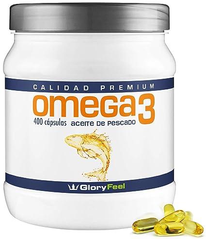 Omega 3 capsulas de 1000mg - 400 cápsulas de Omega 3 - Aceite de Pescado -