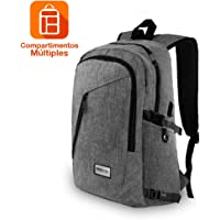 Redlemon Mochila Impermeable Ejecutiva, con Puerto USB para Power Bank (no incluido), Espacio para Laptop y Tablet, Múltiples Compartimentos, Cintas Ajustables, Cómoda y Portátil, de Gran Capacidad, Ideal para Viajes y Transporte