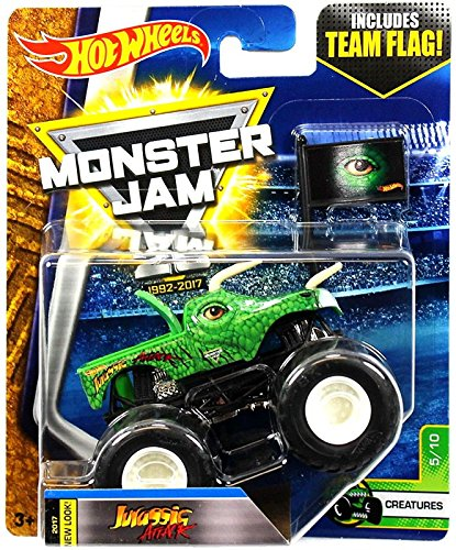 - Hot Wheels Monster Jam 2017 Creatures Jurassic Attack 1:64 Scale, Green