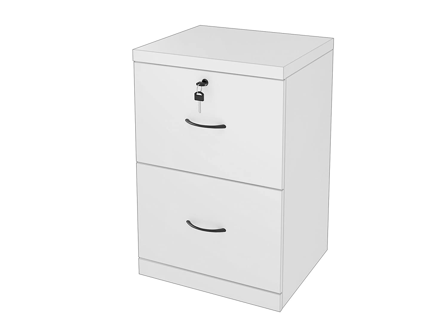 Z-Line Designs 2-Drawer White Vertical File, White