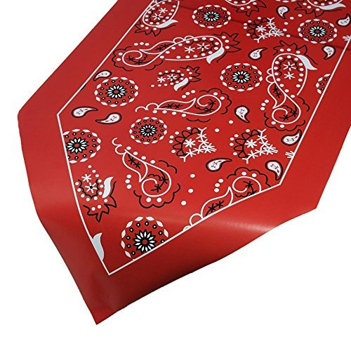 Red Bandanna Table Runner - Party Tableware & Table -