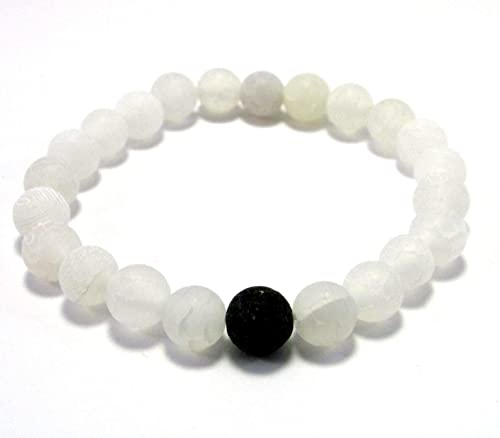 HAPPINESS and COURAGE bracelet beaded Balance bracelet for women healing crystals and stones Sunstone bracelet stretch unisex bracelet