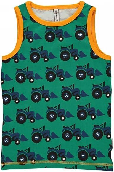 maxomorra Unterhemd Tanktop TRAKTOR green