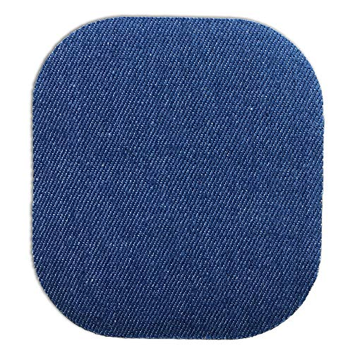30 Pieces Iron on Patches Iron on Denim Patches Repair Kit for Clothes Denim Cloth, Colour 1 Jeans Jackets Large Size 4.9 x 3.7 Inch