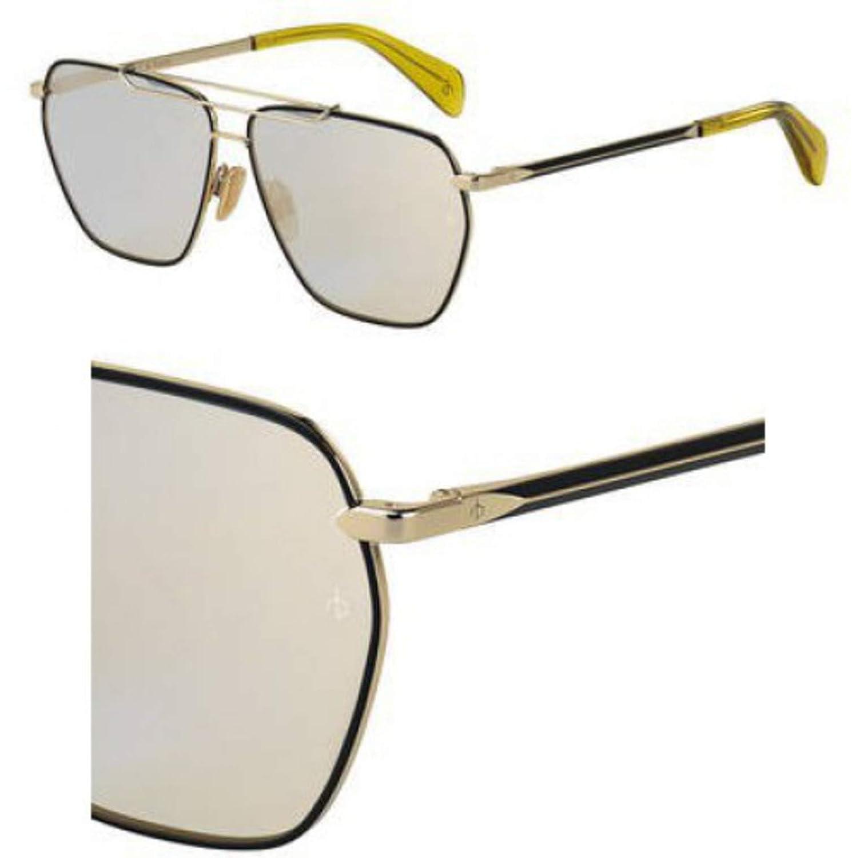 Sunglasses Rag and Bone Rnb 5018 //S 0RHL Gold Black//JO gray bronze mirror lens