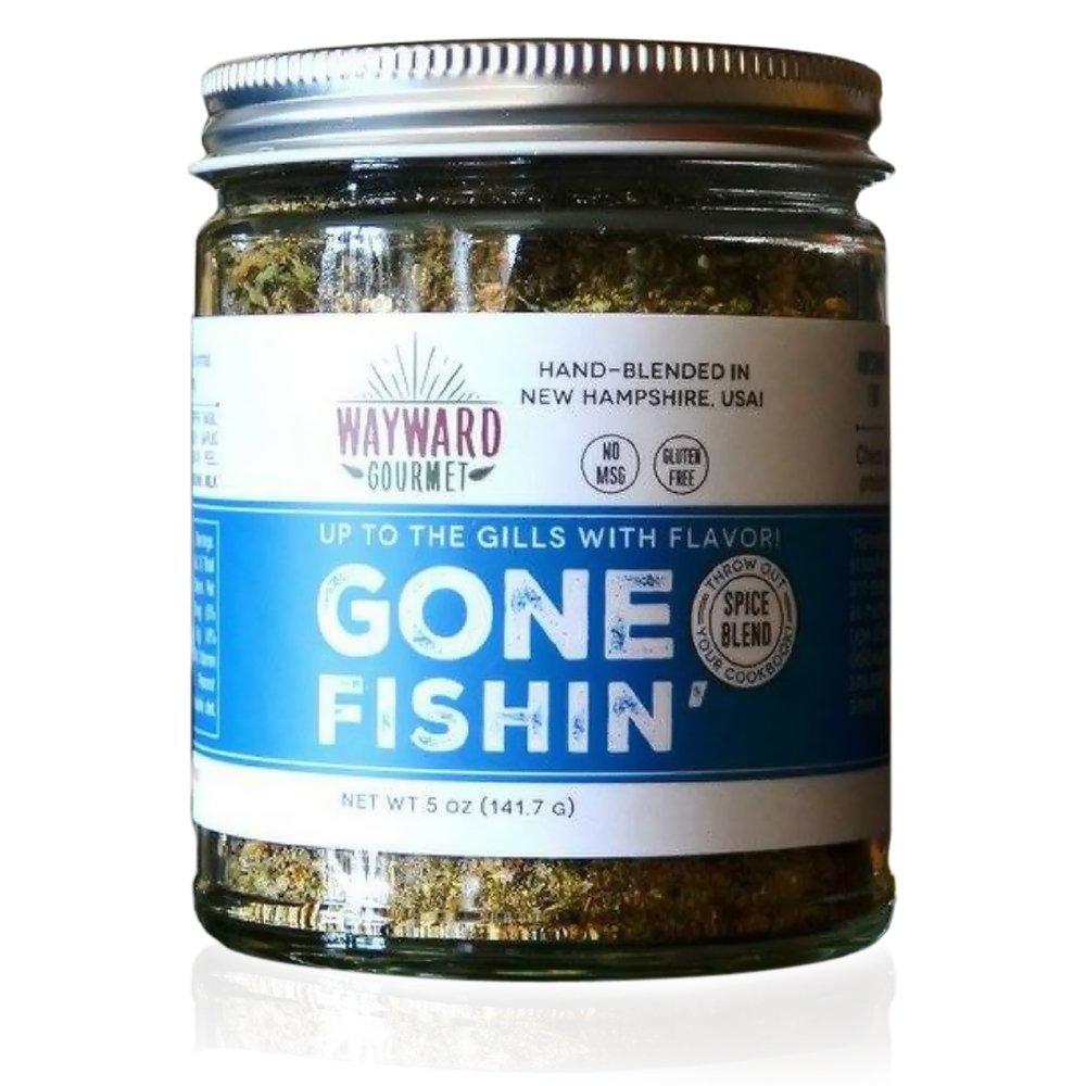 Gone Fishin' Fish Rub & Seasoning by Wayward Gourmet - Best Fish Seasoning Blend Kit for Seasoned Fish, Grilled White Fish and Seafood - Preservative Free Dry Rub - Made in the USA - 5 oz Jar