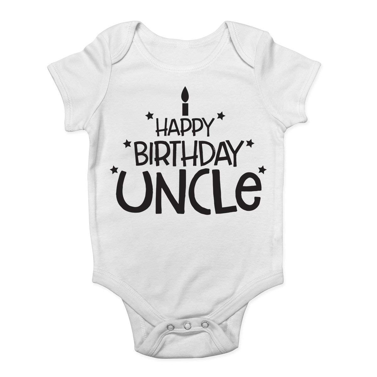 Freedom45457 Happy Birthday Uncle Funny Baby Onesies Unisex Vest Bodysuit