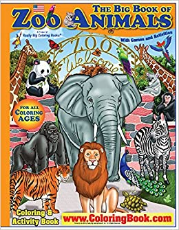 Zoo Animals Giant Super Jumbo Coloring Book: ColoringBook.com ...