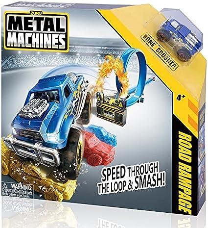 Amazon Com Metal Machines Road Rampage With Bone Crusher Toys