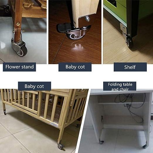4 ruedas giratorias para muebles con freno de 2 pulgadas, ruedas ...