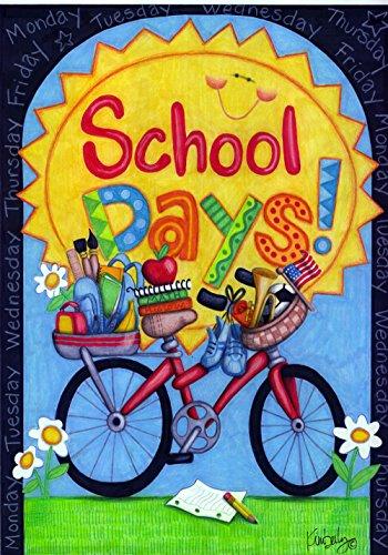 Toland Home Garden School Days 28 x 40 Inch Decorative Color