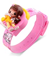 Kids Digital Watches Barbie Doll Toddler Toy Girls Watch Lovely Simple Wristwatch – Pink