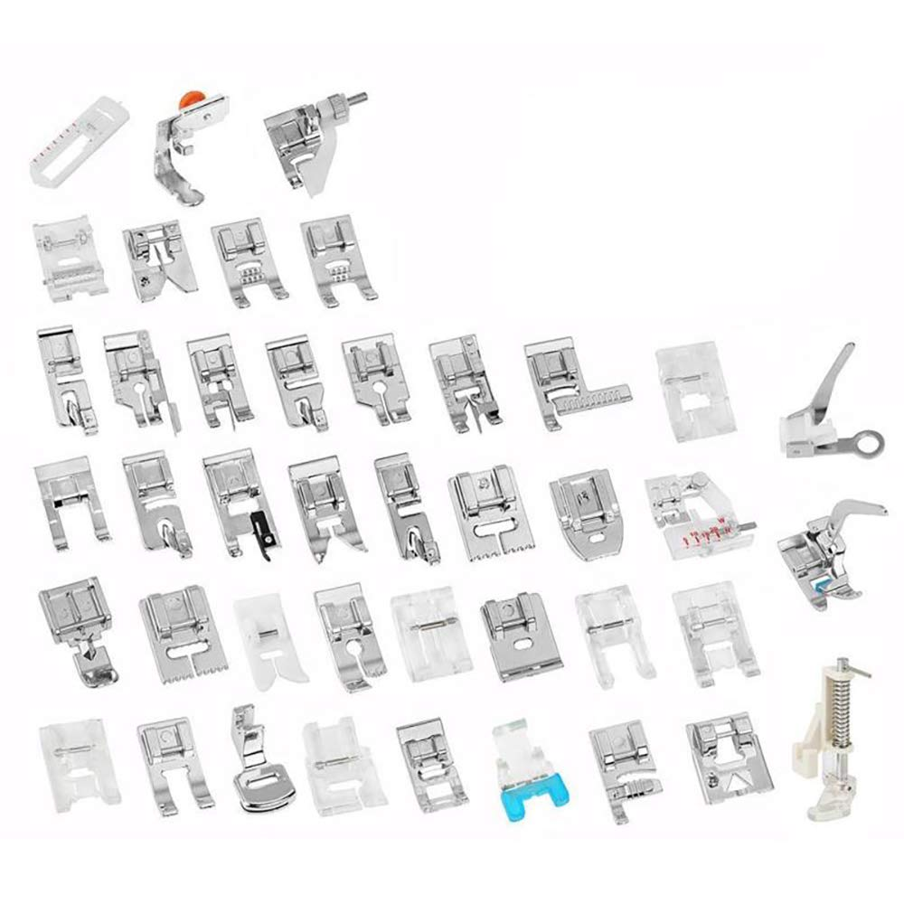 Sewing Machine Walking Presser Foot Set 42 Pcs for Brother, Babylock, Janome, Singer, Elna, Toyota, New Home, Necchi, Simplicity and Kenmore Low Shank Sewing Machines by GROTOPS