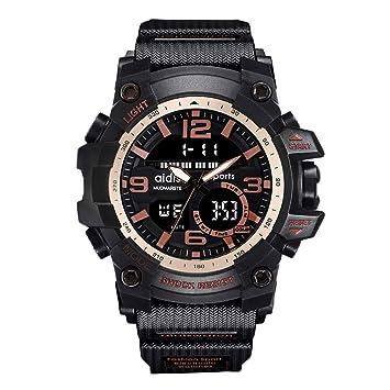 AimdonR Reloj Deportivo, Digital Resistente al Agua Pulsera Pasajero con Función de Reloj Electrónico de Alerta LED: Amazon.es: Hogar