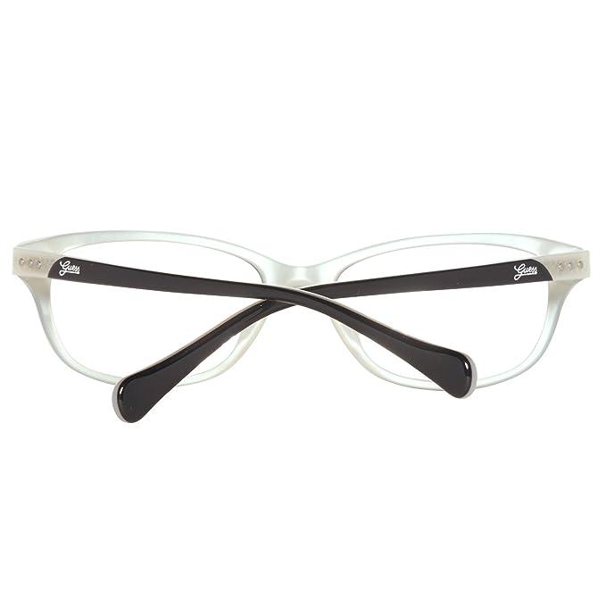 2901ab79d9 Guess Gu 2291 Blkwht 52 16 135 Black White Eyeglasses  Amazon.co.uk   Clothing